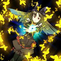 舞い踊る黄金の蝶画像