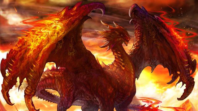 炎の化身のファイアドラゴンの壁紙